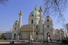 St. Charles Church in Vienna Stock Image