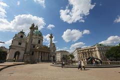 St. Charles Church, Wien royaltyfri fotografi
