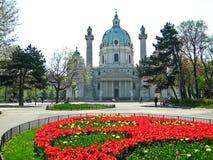 St Charles Church, Wien royaltyfri bild