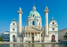 St. Charles Kerk, Wenen, Oostenrijk Royalty-vrije Stock Fotografie
