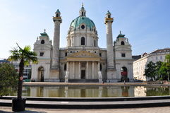 The St. Charles's Church (Germ.: Karlskirche) Stock Photo