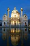 St. Charles's Church (Karlskirche). Karlsplatz, Vienna Stock Photos