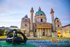 St. Charles's Church (Karlskirche) in Vienna, Austria Stock Photos