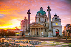 St. Charles's Church (Karlskirche) in Vienna, Austria Royalty Free Stock Photo