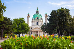 St. Charles's Church in Vienna Royalty Free Stock Photo