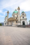 St. Charles's Church in Vienna Stock Image