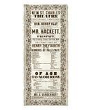 St Charles Theater Opera Flyer de New Orleans Imagen de archivo libre de regalías