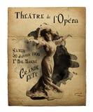 St Charles Theater Opera Flyer de New Orleans Imagenes de archivo