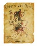 St Charles Theater Opera Flyer di New Orleans Immagini Stock Libere da Diritti