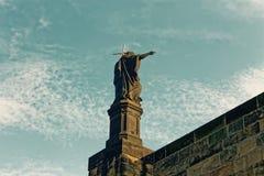 St Charlies雕象 免版税库存图片