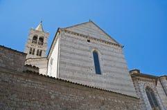 St. Chiara Basilica. Assisi. Umbria. Royalty Free Stock Image