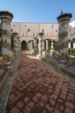 St Chiara Cloister Stock Photo