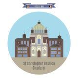St.Christopher Basilica, Charleroi, Belgium Stock Photos