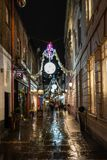 St Christopher`s Place, London. LONDON - DECEMBER 23, 2018: St Christopher`s Place Piazza and the surrounding streets just off famous London`s Oxford Street are royalty free stock image