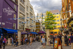 St Christophers Place in London stock photography