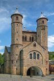 St Chrysanthus e Daria Church, Munstereifel mau, Alemanha Fotografia de Stock Royalty Free