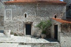St Chrysogonus' Church in Sibenik. Small Romanesque styled church bilt in 12th century royalty free stock photography
