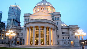 1st Church of Christ, Scientist aka The Mother Church in Boston, USA, stock video footage