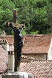 St.Cirq DE Lapopie, Frankrijk Stock Foto's
