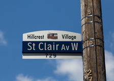 St Clair Avenue West Stock Photo