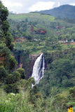 St Clair de Dalingen is de breedste waterval in Sri Lanka Stock Foto
