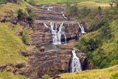 St. Clairs Water Falls Little Niagara of Sri Lanka waterfall Royalty Free Stock Image