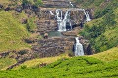 St. Clairs Water Falls Little Niagara of Sri Lanka waterfall Stock Photos