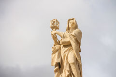 St. Clare of Assisi - Colonnade Saints Vatican Royalty Free Stock Photography