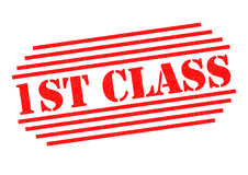 1ST CLASS Rubber Stamp Stock Photo