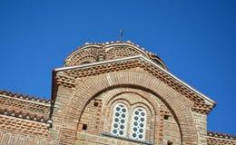St Clement Church in Ohrid - Heilige Moeder van de Kerk van Godsperibleptos Stock Foto