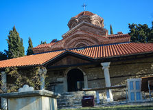 The St. Clement Church in Ohrid - Holy Mother of God Peribleptos Church. The St. Clement Church in Ohrid is one of the oldest churches in the city of Ohrid and Royalty Free Stock Photos