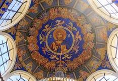 St Clement de la iglesia de Ohrid o de Kliment Ohridski en Skopje Foto de archivo