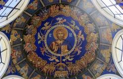 St Clement de la iglesia de Ohrid o de Kliment Ohridski en Skopje Imagen de archivo