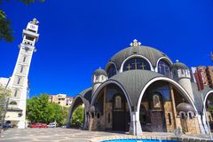 St. Clement of Ohrid or Kliment Ohridski Church in Skopje Royalty Free Stock Photos