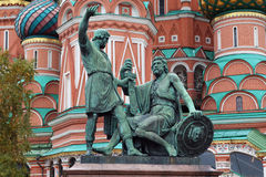 The Monument to Minin and Pozharsky, Moscow Royalty Free Stock Photography