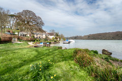 St Clement. A small picturesque hamlet on thebanks of the Tresillian River just outside of Truro Stock Photography