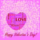 St Collage di giorno del biglietto di S. Valentino royalty illustrazione gratis