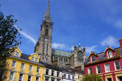 St. Colman neogotische kathedraal in Cobh, Zuid-Ierland Royalty-vrije Stock Foto's