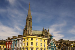 St. Colman's neo-Gothic cathedral in Cobh, South Ireland.  Stock Photography