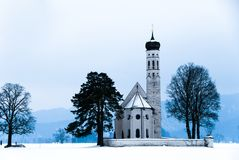 The St. Coloman Chapel in Bavary Stock Photography