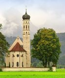 St. Coloman church in Bavaria. Germany Stock Images