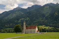St. Coloman church, Germany Stock Image