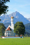 St. Coloman Church, Near Fussen, Bavaria, Germany Stock Images