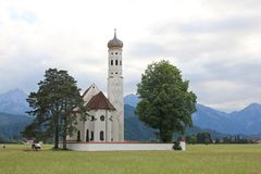 St Coloman Church, near Fussen, Bavaria Stock Image