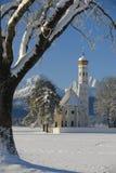 St Coloman della chiesa del punto di riferimento in Baviera Immagini Stock