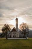 St Coloman kościół Blisko Fussen, obraz stock