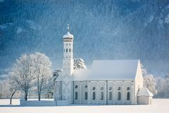 St. Coloman at wintertime, Allgäu, Germany Royalty Free Stock Images