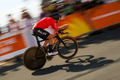 21st Commonwealth Games, Cycling Time Trial, Gold Coast, Queensl Stock Image