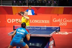 2018 21st Commonwealth Games Table Tennis Royalty Free Stock Image