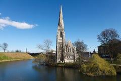 st copenhagen s церков alban Стоковое Фото